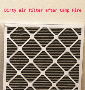 Air Filter After Camp Fire