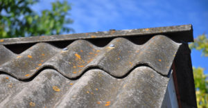 Roof tiles with asbestos exposure